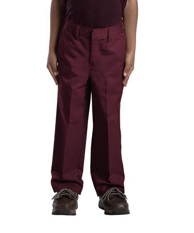 Dickies Boys Burgundy Boys Classic Fit Straight Leg Flat Front Pants