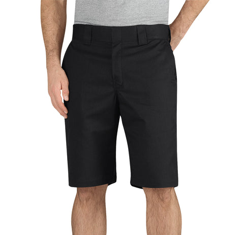 Dickies Mens Black Flex 11In Regular Fit Work Short