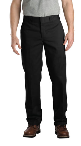 Dickies Mens Black Mens Slim Fit Straight Leg Work Pants