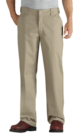 Dickies Mens Desert Sand Flex Straight Leg Twill Comfort Waist Pants