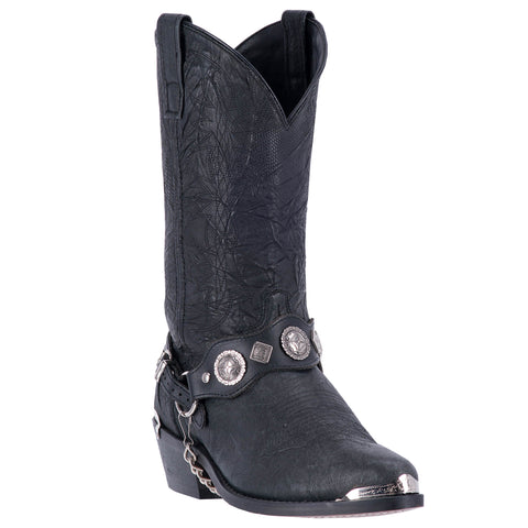 Dingo Mens Suiter Cowboy Boots Leather Black