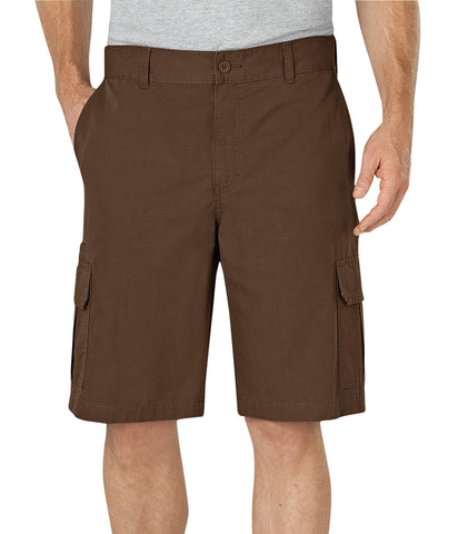 Dickies Mens Timber 11In Relaxed Fit Lightweight Ripstop Cargo Short