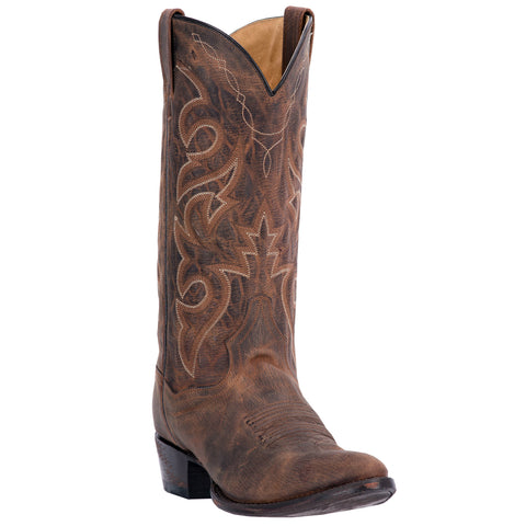 Dan Post Mens Bay Apache Cowboy Boots Leather R Toe