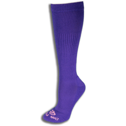 Dan Post Socks Womens Purple Over the Calf Cotton Blend 2 Pairs