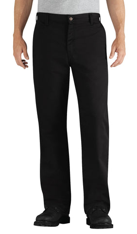 Dickies Mens Black Flame-Resistant Relaxed Fit Twill Pant