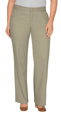 Dickies Womens Desert Sand Plus Straight Leg Stretch Twill Pants