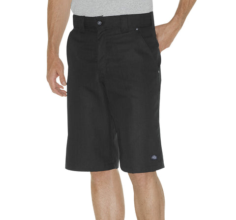 Dickies Mens Black 13In Regular Fit Shadow Stripe Shorts