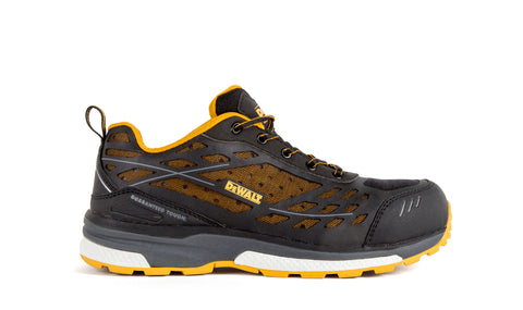 DeWalt Mens Black/Yellow Mesh Smithfield AT SD Work Shoes
