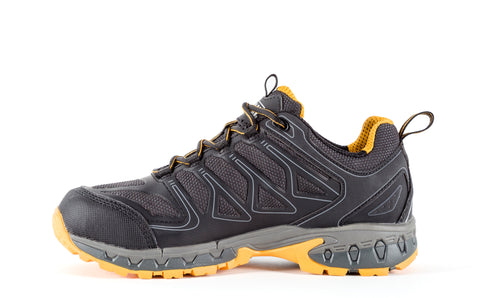 DeWalt Mens Black/Yellow Mesh Boron AT Work Shoes
