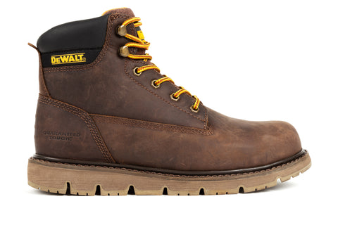 DeWalt Mens Brown Crazy Horse Leather Flex ST EH Work Boots