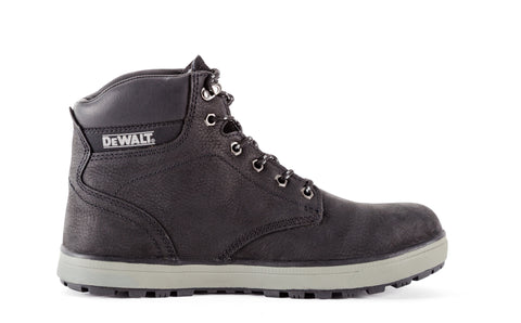 DeWalt Mens Black Dirty Dog Leather Plasma ST Work Boots
