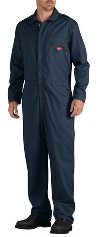 Dickies Mens Navy Flame-Resistant Lightweight Coverall