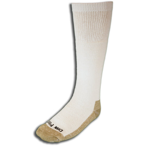 Dan Post Socks Mens White Over the Calf Cotton Blend Med Weight 3 Pairs