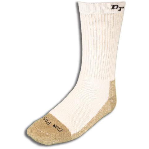 Dan Post Socks Mens White Mid Calf Cotton Blend Med Weight ST 4 Pairs