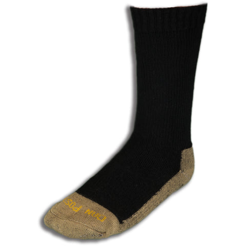 Dan Post Socks Mens Black Mid Calf Cotton Blend Med Weight ST 3 Pairs