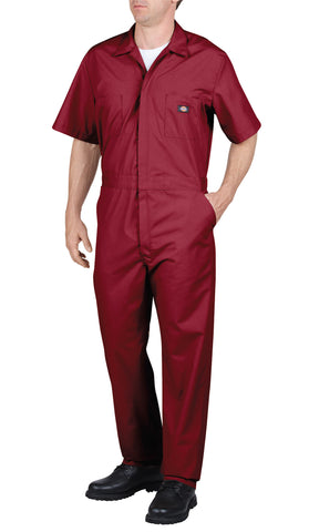 Dickies Mens Red Short Sleeve Coverall