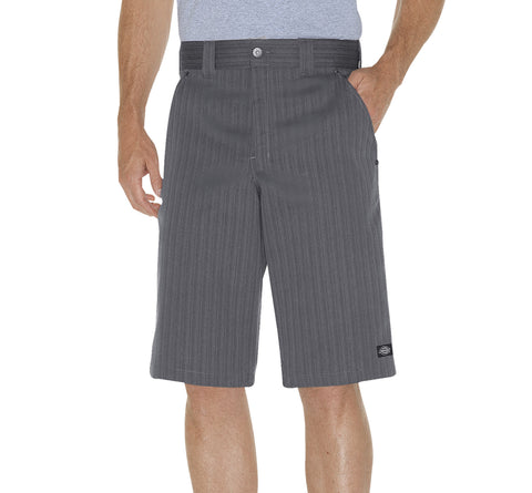 Dickies Mens Graphite 13In Regular Fit Shadow Stripe Shorts