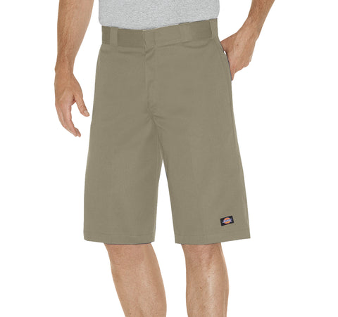 Dickies Mens Khaki 13In Relaxed Fit Multi-Pocket Work Short