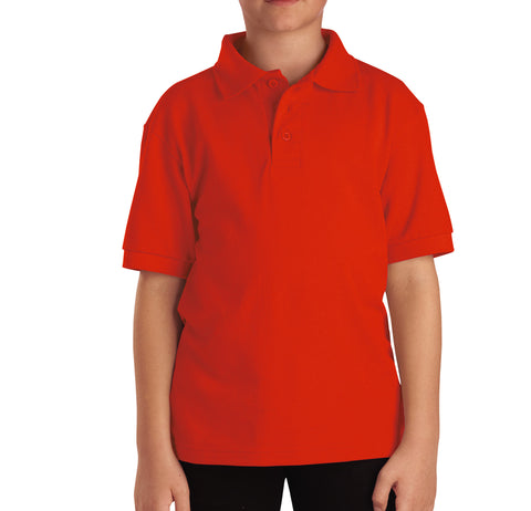 Dickies Orange S/S Kids Boys Short Sleeve Pique Polo Shirt
