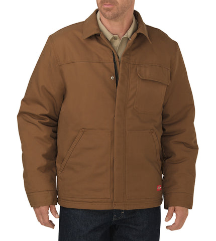 Dickies Mens Brown Flame-Resistant Insulated Duck Jacket