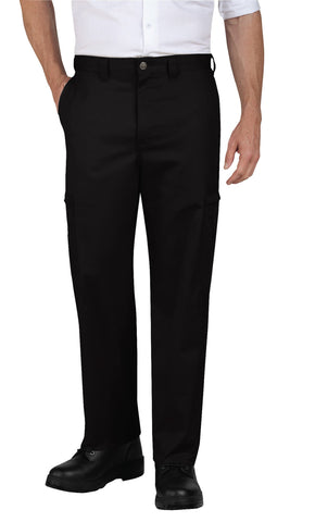 Dickies Mens Black Industrial Relaxed Fit Cotton Cargo Pants