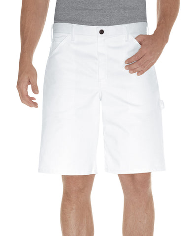 Dickies Mens White 10In Painters Shorts