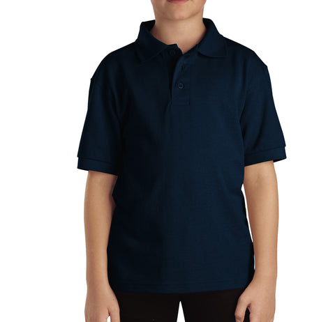 Dickies Dark Navy S/S Kids Boys Short Sleeve Pique Polo Shirt