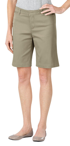 Dickies Womens Desert Sand Womens 10In Relaxed Fit Stretch Twill Short