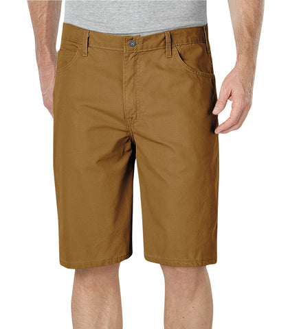 Dickies Mens Rinsed Brown 11In Lightweight Duck Carpenter Shorts