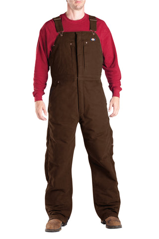 Dickies Mens Timber Brown Sanded Duck Insulated Bib Overall