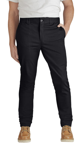 Dickies Mens Black Flex Slim Skinny Fit Twill Work Pant