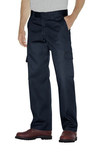Dickies Mens Dark Navy Relaxed Fit Straight Leg Cargo Work Pants