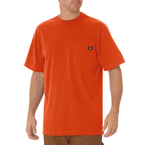 Dickies Mens Orange S/S Short Sleeve Heavyweight Tee