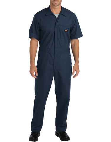Dickies Mens Dark Navy Flex Short Sleeve Coveralls