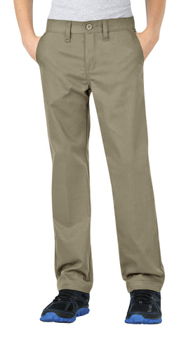 Dickies Boys Desert Sand Flexwaist Straight Leg Ultimate Khaki Pants