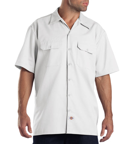 Dickies Mens White S/S Short Sleeve Work Shirt