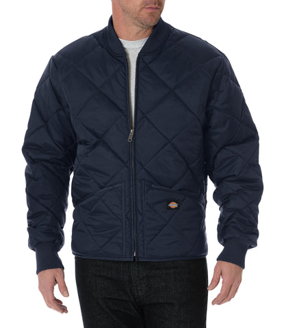 Dickies Mens Dark Navy Diamond Quilted Nylon Jacket