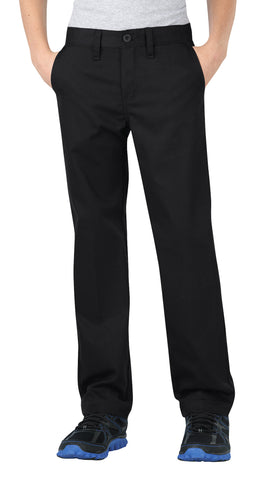 Dickies Boys Black Flexwaist Straight Leg Ultimate Khaki Pants