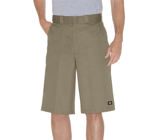 Dickies Mens Khaki 13In Loose Fit Multi-Use Pocket Work Short