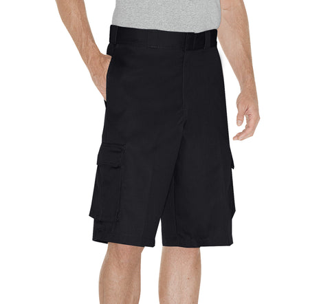 Dickies Mens Black 13In Loose Fit Cargo Short