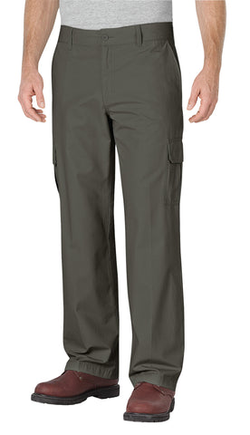 Dickies Mens Rinsed Moss Green Straight Leg Ripstop Cargo Pants