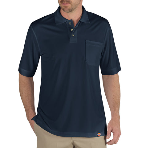 Dickies Mens Dark Navy S/S Industrial Performance Polo