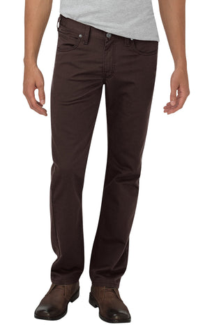 Dickies Mens Dark Brown X-Series Flex Tapered Leg Pants