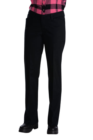 Dickies Womens Black Womens Relaxed Straight Stretch Twill Pants