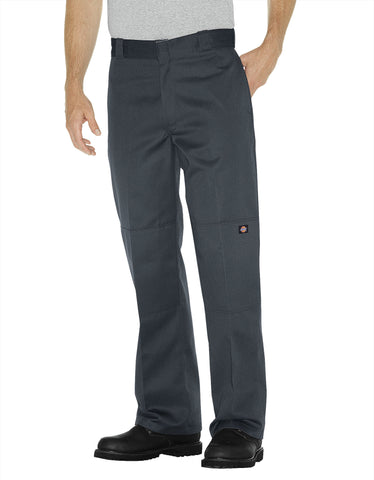 Dickies Mens Charcoal Loose Fit Double Knee Work Pant