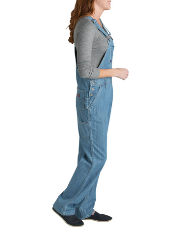 Dickies Womens Medium Stonewash W/Bleach Straight Leg Bib Overall