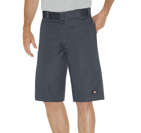 Dickies Mens Charcoal 13In Relaxed Fit Multi-Pocket Work Short