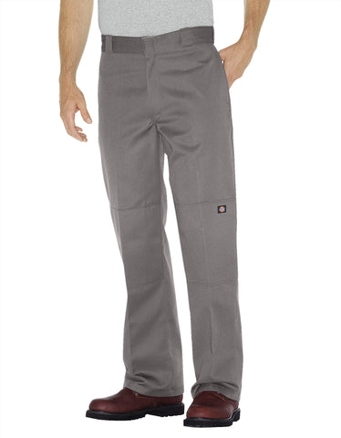 Dickies Mens Silver Loose Fit Double Knee Work Pant