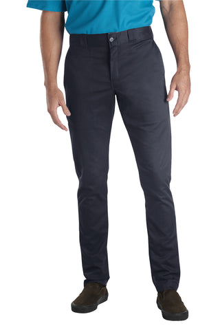 Dickies Mens Dark Navy Flex Skinny Straight Fit Work Pant