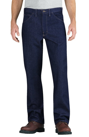 Dickies Mens Rinsed Indigo Blue Fr Straight Leg 5-Pocket Jean
